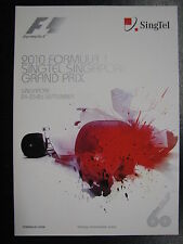 Program 2010 Formula 1 Singtel Singapore Grand Prix 24-26 September (PBE)