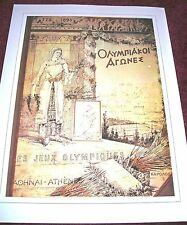 """OLYMPICS POSTER~Athens 1896 Summer Games Greece 12x16"""" Vintage Look For Framing~"""