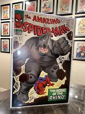 The Amazing Spider-Man #41 1st Appearance of Rhino High Grade Very Fine 8.0 🔥