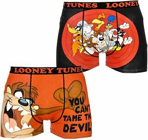 Looney Tunes, Taz all over & that's all folks Men's 2 pack Boxer shorts