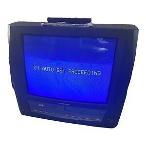 """Panasonic PV-DM2093 20"""" TV/DVD/VCR Retro TV W/ Remote & Manual Omnivision VHS"""