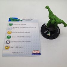 Heroclix Incredible Hulk set Abomination #013 Common figure w/card!