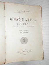 GRAMMATICA INGLESE Pietro Bardi Laterza 1928 libro linguistica manuale corso di