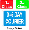 Courier / Postal Labels / Postage Stickers / 1st Class / 2nd Class