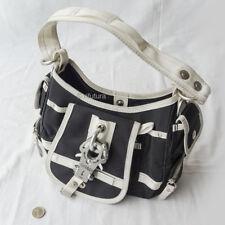 Borsa GEORGE GINA & LUCY MOD HUSH-HUSH '05 women's handbag black/white nylon 1TI