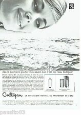 PUBLICITE ADVERTISING 116  1966   Culligan   traitement de l'eau pool cleaner