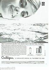 PUBLICITE ADVERTISING 116  1966   Culligan   traitement de l'eau pool cleaner
