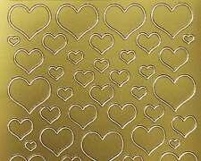 Sticker / Aufkleber Herzen Starform 1139