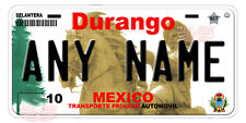 Durango Mexico Auto Novelty License Plate Placas Auto