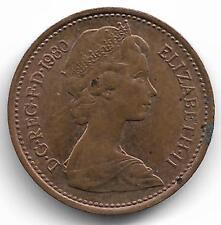 Britain Queen Elizabeth II Half New Penny Coin - 1980
