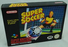 Jeu SUPER SOCCER sur Super Nintendo SNES Neuf carton d'usine version PAL