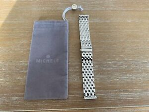 PRE-OWNED MICHELE 20mm 7 LINK STAINLESS STEEL BRACELET BAND DECO XL MS20CV235009