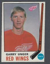 1969-70 O-Pee-Chee Detroit Red Wings Hockey Card #159 Garry Unger