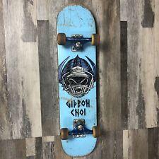Rare Vintage Blind Gideon Choi Helmet Complete Skateboard 7 3/8 in Deck & Trucks