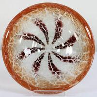 WMF Ikora Glas Teller Schale ∅ 28 cm rot Karl Wiedmann 30er Jahre