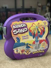 Kinetic Sand, Sandwhirlz Playset with 3 Colors of Kinetic Sand (2lbs) and.