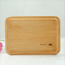 Japanese Wood Wooden Serving Tray Plate Tea Food Platter Home Decoration 18X13CM