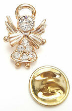 Angel-Drops Birthstone Guardian Angel Pin April Crystal