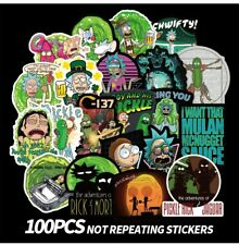 100pcs Rick and Morty themed vinyl Stickers Cute Character Stickers USA SHIPPING