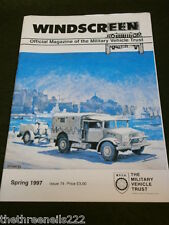 MILITARY VEHICLE TRUST - WINDSCREEN # 74 - SPRING 1997 - EXCELSIOR 98cc