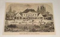 1876 magazine engraving~ VARZIN, HOME OF PRINCE BISMARK, Germany