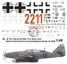 Peddinghaus 1/48 Me 262 B-1a/U1 Red 12 Markings Herbert Altner 10./NJG 11 1011
