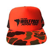 watch 56555 6ef71 UTV Wolfpack Camo Orange Snapback Hat Trucker Style Black Logo Polaris RZR  XP1K