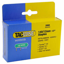 Tacwise STAPLES Galvanised 140/12mm Upholstery Window Flooring others 2000pcs
