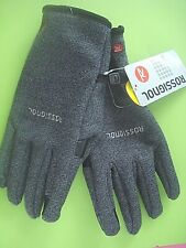 MENS ROSSIGNOL WINTER GLOVES BLACK TWEED FINGER TOUCH LARGE NEW