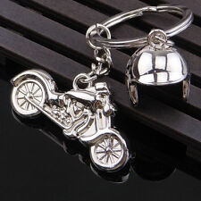 Creative Motorcycle Spring Helmet Key Chain Ring Keychain Keyring Key Fob