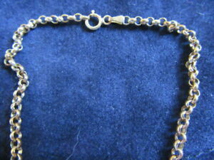 Joli bracelet en or jaune 375 / 9 carats, maille jaseron