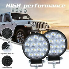 2Pcs 140W LED Work Light Spot Lamp Offroad Truck Tractor Boat SUV UTE 12V 24V