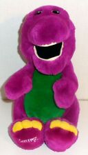 "LARGE VINTAGE 1992 BARNEY PURPLE DINOSAUR 15"" STUFFED PLUSH DOLL TOY"
