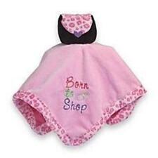 Baby Essentials Little Diva Born To Shop Pink Security Blanket Leopard Trim NWT