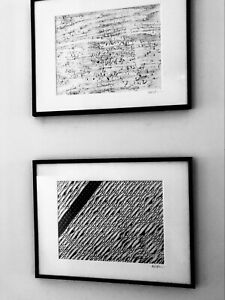 Two Original Bl&WH Framed Art Photos Abstract - Signed /Dated 2001, 11 x 14