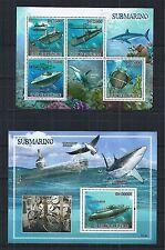 SAO TOME AND PRINCIPE 2009 SHEET BLOCK SET MiNr: 4073 - 77 SUBMARINE SHARK SEA
