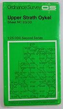 1969 OS Ordnance Survey Second Series Pathfinder Map NC 20/30 Upper Strath Oykel