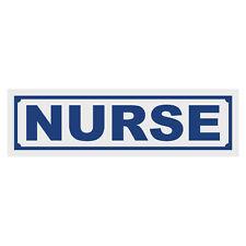 Nurse Window Reflective Title Decal Sticker