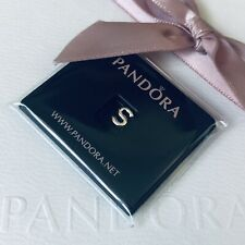 PANDORA Sterling Silver Initial LETTER S Petite Locket Floating Charm NEW 797337