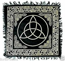Gold & Black Celtic Triquetra Altar Cloth 18 X 18 Pagan Witchcraft Wicca