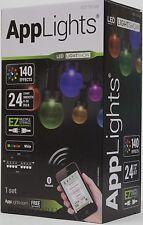 Gemmy AppLights LED Lightshow 24 Smooth G30 Bulbs String Lights NIB