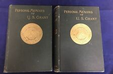 FIRST EDITION PERSONAL MEMOIRS OF U. S. GRANT 2 VOLUMES 1885 RARE