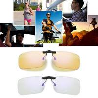 Clip lunettes anti-bleu Blocage d'objectif Filtre lumière bleue Jeu anti-reflets