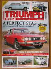 Triumph World June July 2015 2000 2 door Stag TR250 Gloria T6 Le Mans Culcheth