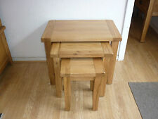 VANCOUVER PETITE  SOLID OAK NEST OF TABLES NB012 VERY SOLID AND STURDY VXA013