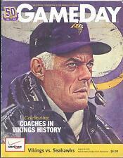Minnesota Vikings Seattle Seahawks Program 8/28/10 NEW HOF Bud Grant on Cover