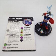 Heroclix Marvel's What If? set Captain America #036 Rare figure w/card!