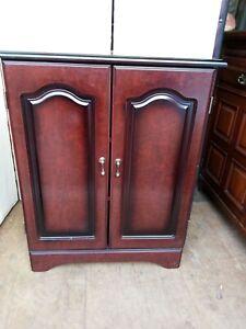 vintage mahogany small cupboard ply wood 70 x 40 cm 80cm h
