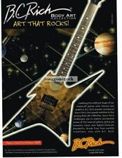 2003 B.C. RICH Ironbird SPACE FACE Electric Guitar Body Art Collection Advert