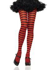LA-7100Q Plus Queen Size Black Red Stripe Sexy Pantyhose Halloween Costume